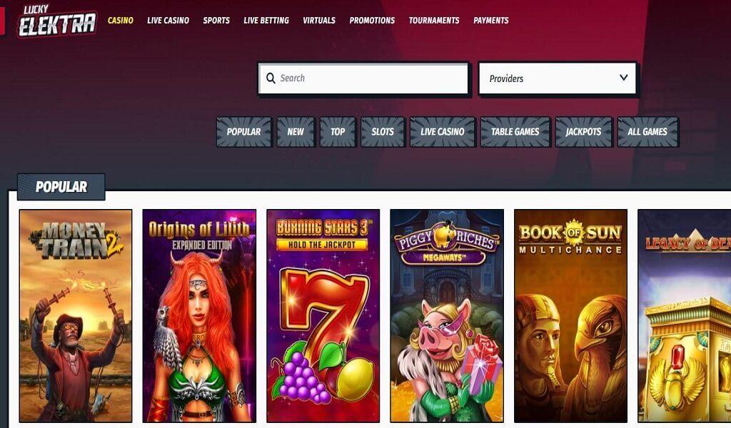 Lucky Elektra Casino arvostelu – korkealaatuinen yleiskasino